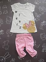 Детский летний костюм Минни для девочки на 1, 4 года