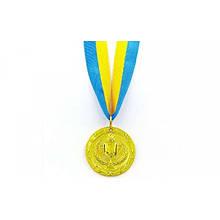 Медаль спортивная с лентой BOWL место 1-золото