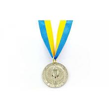 Медаль спортивная с лентой BOWL место 2-серебро