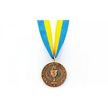 Медаль спортивная с лентой BOWL место 3-бронза
