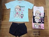 Набор 2 в 1 для девочек оптом, Glo-story, 110-160 см,  № GLT-8755, фото 1