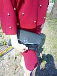 Сумка женская маленькая черная 047K, фото 3