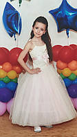 Б/У Платье бело-розовое (116-128 рост), фото 1