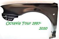 Крило кузова переднє ліве Шкода Октавія ТУР Skoda Octavia Tour нове грунтованое 1U0821105B