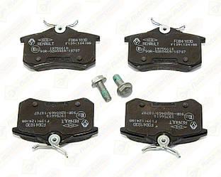 Дисковые тормозные колодки (задние) на Renault Megane II 2001->2009 — Renault (Оригинал) - 440602466R