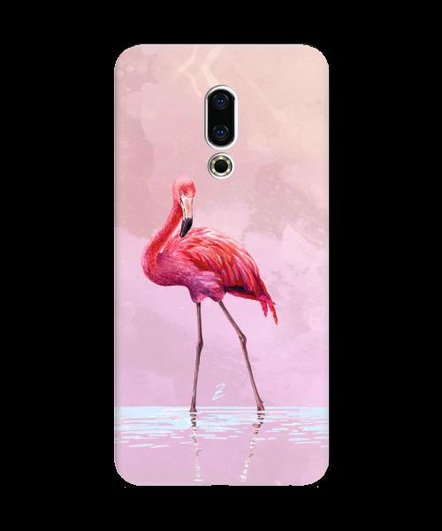 Силиконовый чехол СP-Case на Meizu 16X Flamingo