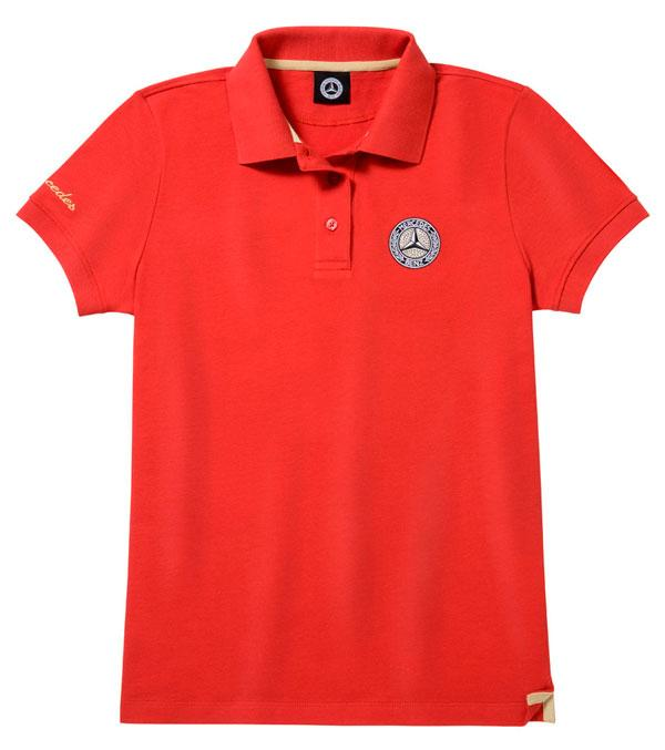 Жіноча сорочка-поло Mercedes Women's Polo Shirt, Red / Gold-coloured (B66041602)