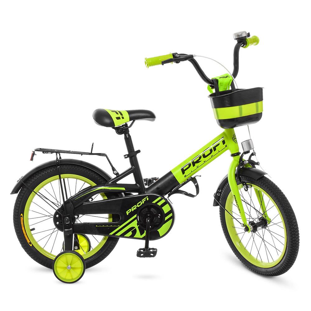 Велосипед детский PROF1 18д. W18115-6 Черно - зеленый