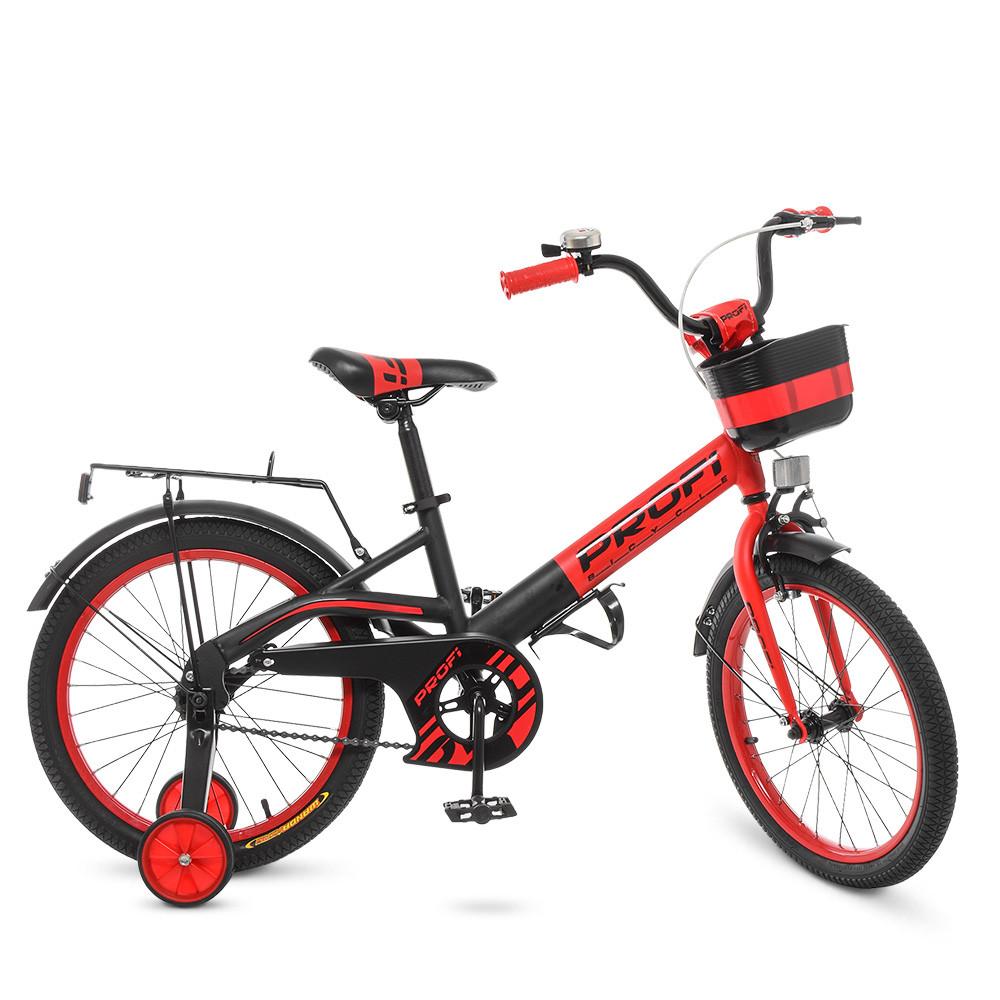 Велосипед детский PROF1 18д. W18115-5 Красно - черный
