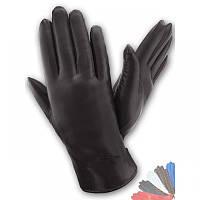 Женские перчатки из натуральной кожи модель 136 на подкладке из натурального меха