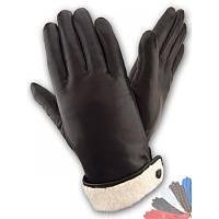 Женские перчатки из натуральной кожи модель 043 на подкладке из натурального меха