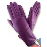 Женские перчатки из натуральной кожи модель 349 на подкладке из натурального меха