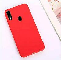 Чехол Candy Silicone для Samsung Galaxy A40 цвет Красный