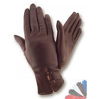 Женские перчатки из натуральной кожи модель 046 на шерстяной подкладке