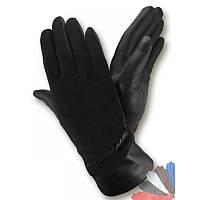 Женские перчатки из натуральной кожи модель 049 на шерстяной подкладке