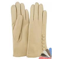 Женские перчатки из натуральной кожи модель 113 на шерстяной подкладке
