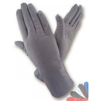 Женские перчатки из натуральной кожи модель 129 на шерстяной подкладке