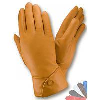 Женские перчатки из натуральной кожи модель 132 на шерстяной подкладке