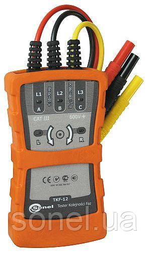 Покажчик правильності чергування фаз і напрямку обертання електродвигунів TKF-12
