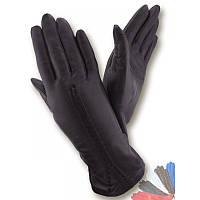 Женские перчатки из натуральной кожи модель 220 на шерстяной подкладке