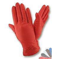 Женские перчатки из натуральной кожи модель 237 на шерстяной подкладке