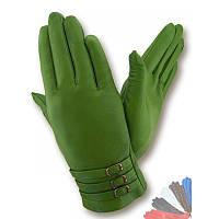 Женские перчатки из натуральной кожи модель 284 на шерстяной подкладке