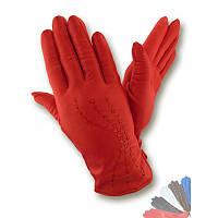 Женские перчатки из натуральной кожи модель 289 на шерстяной подкладке
