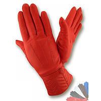 Женские перчатки из натуральной кожи модель 344 на шерстяной подкладке