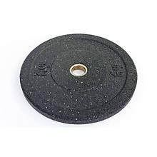 Бамперный диск для кроссфита Bumper Plates из структурной резины RAGGY 5кг