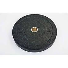 Бамперные диски для кроссфита Bumper Plates из структурной резины RAGGY 10кг