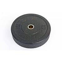 Бамперные диски для кроссфита Bumper Plates из структурной резины RAGGY 25кг