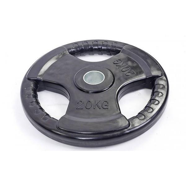 Блины (диски) обрезиненные с тройным хватом 20кг