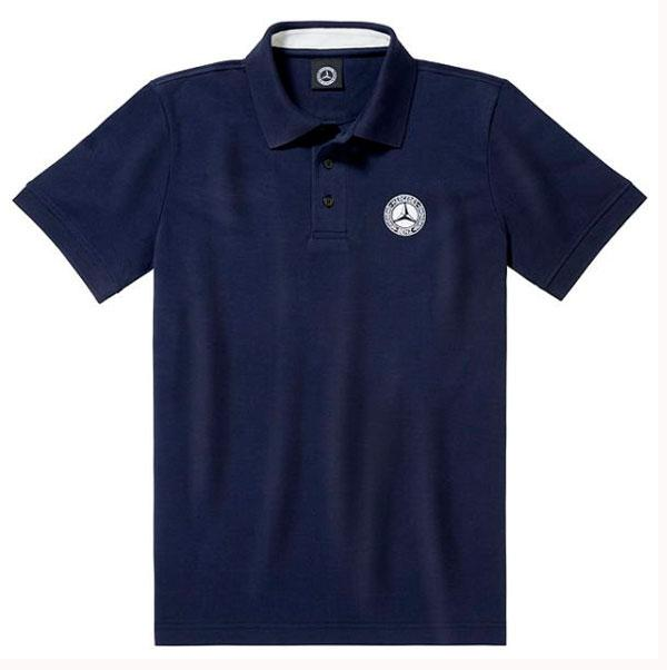 Чоловіча футболка поло Mercedes-Benz Men's Polo Shirt, Classic, Navy (B66041535)