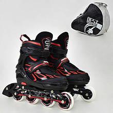".Ролики 6006 ""M"" Red - Best Roller /размер 35-38/ (6) колёса PU, без света, d=7см"