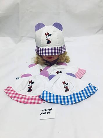 Летняя панамка для девочки с ушками Микки р.46-48, фото 2