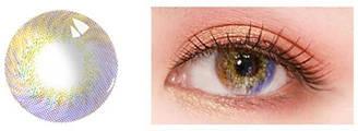 Лінзи контактні фіолетово-жовті + контейнер в ПОДАРУНОК