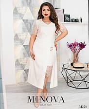 Платье №347-молочный (6 цветов) с 52 по 58 размер(мин)
