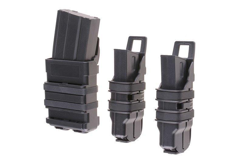 Набор подсумков Open III (2 XS+1 M) для магазинов pistoletowe + 5,56 - black [Primal Gear] (для страйкбола)