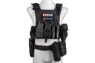 Набор подсумков Open III (2 XS+1 M) для магазинов pistoletowe + 5,56 - black [Primal Gear] (для страйкбола), фото 3