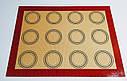 Профессиональный силиконовый коврик для выпекания армированный с разметкой GA Dynasty 40*30 см 21011, фото 2