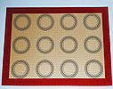Профессиональный силиконовый коврик для выпечки армированный с разметкой 40*30 см, фото 3