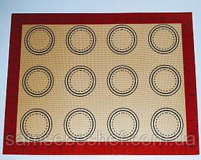 Професійний силіконовий килимок для випічки армований з розміткою 40*30 см