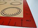 Профессиональный силиконовый коврик для выпечки армированный с разметкой 40*30 см, фото 5