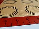 Профессиональный силиконовый коврик для выпечки армированный с разметкой 40*30 см, фото 6