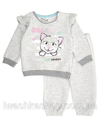 Стеганый трикотажный костюм для девочки, свитшот и штаны на девочку 12 - 18 месяцев, р. 86, Ergee / KIK