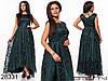 Красивое приталенное женское платье в пол из органзы с напылением 48, 50, 52, фото 6