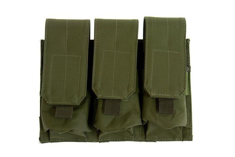 Тройной подсумок для магазинов типа M4/M16 - olive [GFC Tactical] (для страйкбола)