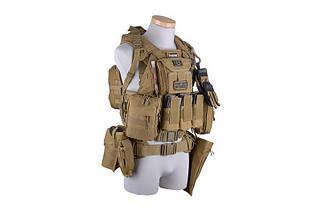 Тройной подсумок для магазинов типа M4/M16 - olive [GFC Tactical] (для страйкбола), фото 3