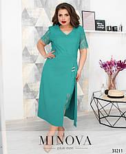Платье №347-бирюзовый (6 цветов) с 52 по 58 размер(мин)