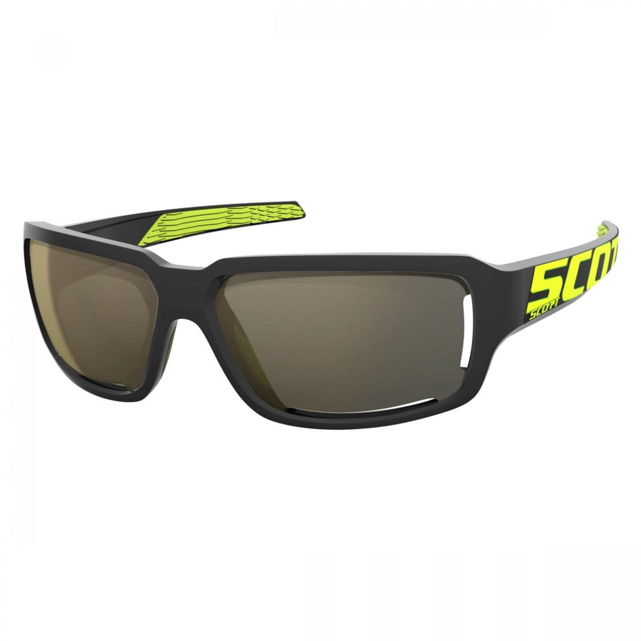 Спортивні окуляри SCOTT OBSESS ACS чорний / неоновий жовтий золотий хром